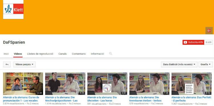Alemán a la alemana, aprende gramática con videos