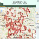 Dialektkarte, mapa sonoro de los dialectos alemanes