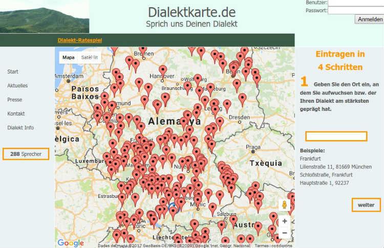 Dialektkarte mapa sonoro de los dialectos alemanes