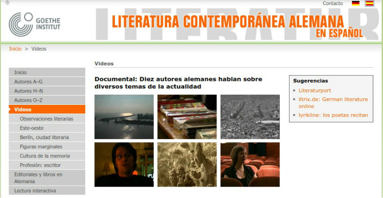 Literatura Contemporánea Alemana en español - Goethe Institut