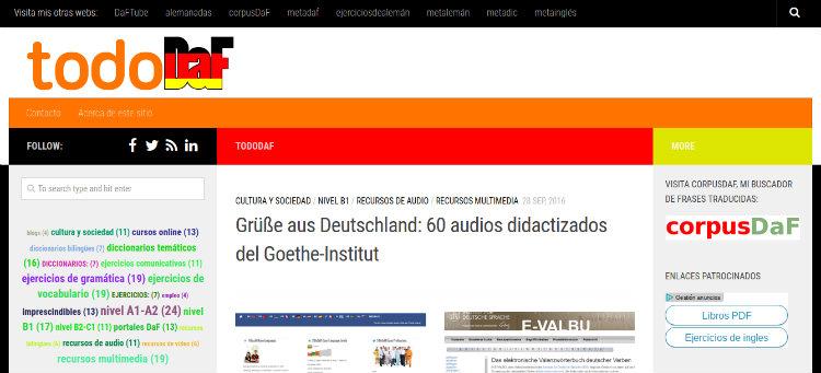 TodoDaF directorio de materiales para aprender alemán