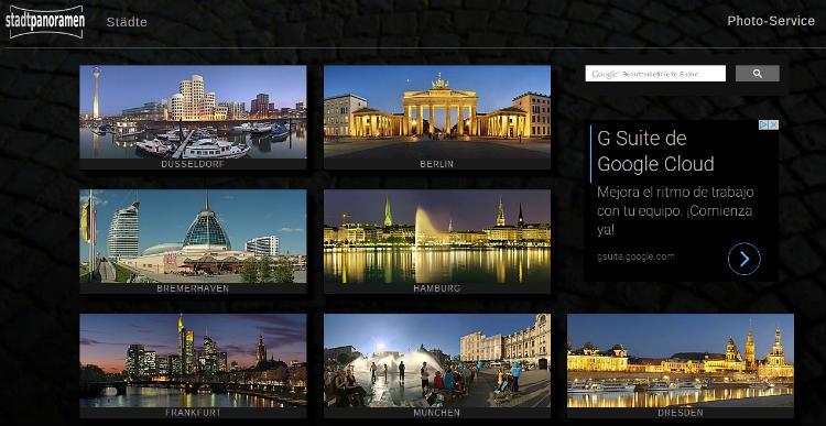 Stadtpanoramen, Alemania en 360 grados