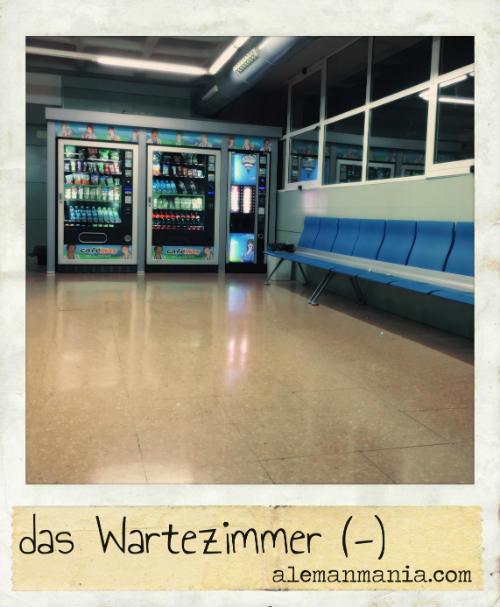 Das Wartezimmer. Ein Besuch im Krankenhaus - Una visita al hospital