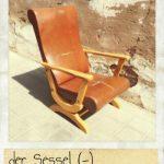 Sessel, der. Ein Sessel auf der Straße