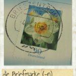 Briefmarke, die. Blume auf einer Briefmarke