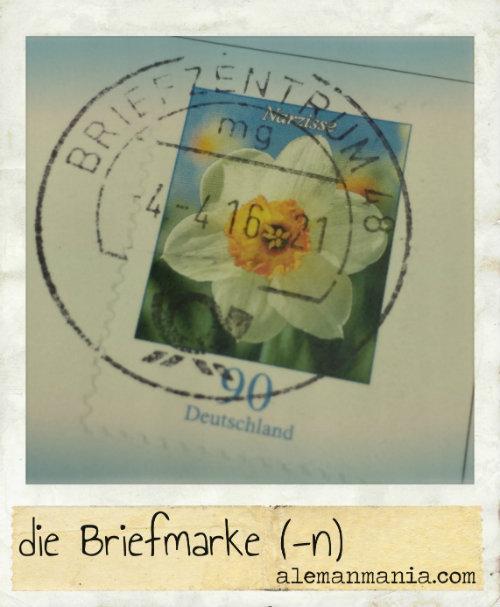 Die Briefmarke. Blume auf einer Briefmarke