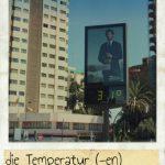 Temperatur, die. Straße-Thermometer