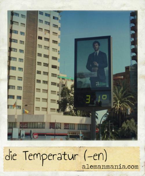 Die Temperatur. Straße-Thermometer