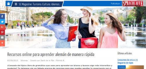 Más de 50 recursos que te ayudarán a aprender alemán online - Sparchcaffe